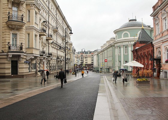 Moscow city center ON FOOT